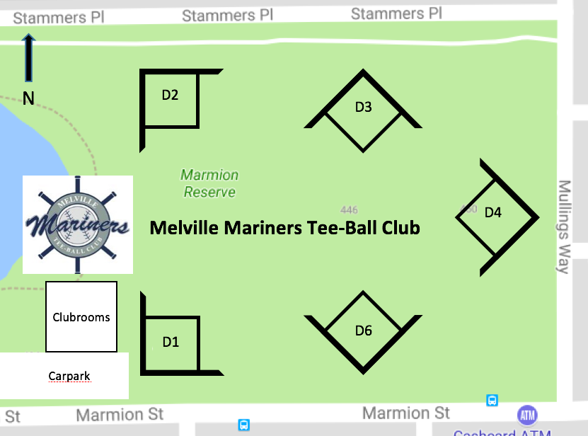 Melville Mariners Diamond Layout